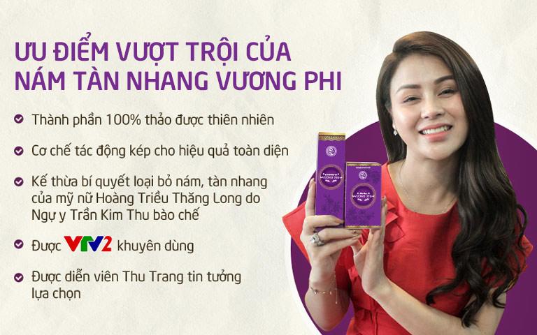 Những ưu điểm vượt trội của Bộ sản phẩm Nám da Tàn nhang Vương Phi